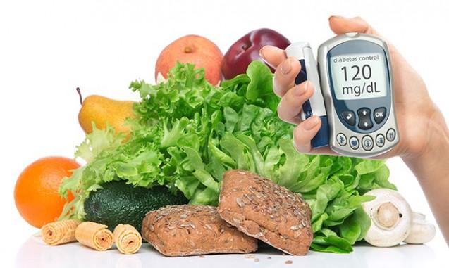 全粒粉パンと新鮮な野菜、それに血糖値測定器|副腎疲労blog