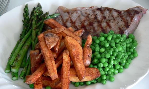 牛肉のグリルステーキのプレート|副腎疲労blog