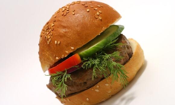 美味しそうなシンプルハンバーガー|副腎疲労HP
